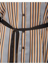 Striped Longline Shirt Black/Mustard - Gallery Image 4