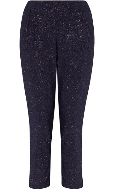 Tapered Leg Sparkle Stretch Trousers Midnight/Rainbow