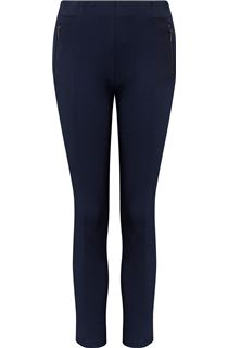 Panelled Stretch Treggings - Blue