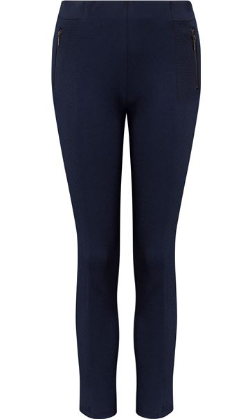 Panelled Stretch Treggings Midnight