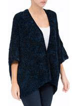 Chenille Loose Fitting Cardigan Midnight - Gallery Image 2