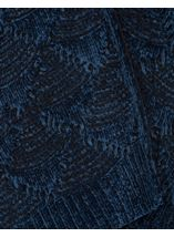 Chenille Loose Fitting Cardigan Midnight - Gallery Image 4