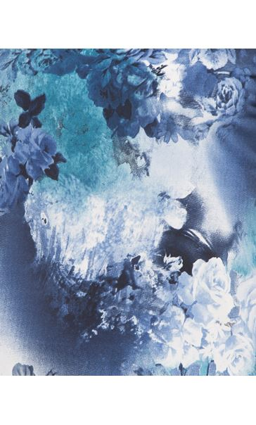 Anna Rose Floral Print Top Blues - Gallery Image 4