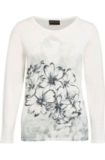 Anna Rose Floral Sketch Knit Top