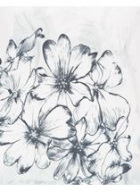Anna Rose Floral Sketch Knit Top Ivory/Blue - Gallery Image 4