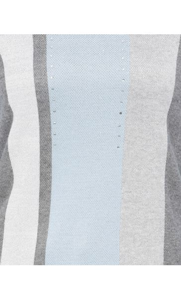 Anna Rose Sparkle Stripe Knit Top Soft Blue - Gallery Image 4