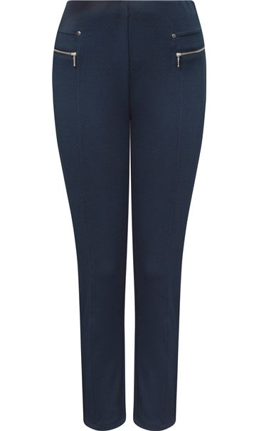 Anna Rose Tapered Leg Trousers Navy