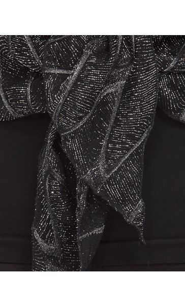 Anna Rose Long Sleeve Sparkle Cover Up Black/Silver - Gallery Image 4