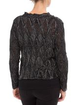 Anna Rose Long Sleeve Sparkle Cover Up Black/Silver - Gallery Image 3