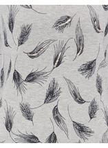 Anna Rose Feather Print Knit Top Grey - Gallery Image 4
