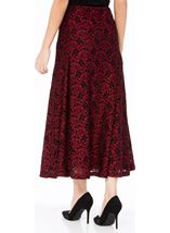 Anna Rose Sparkle Lace Midi Skirt Red/Black - Gallery Image 3