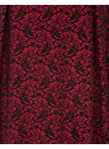 Anna Rose Sparkle Lace Midi Skirt Red/Black - Gallery Image 4