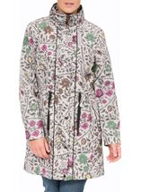 Floral Print Lightweight Coat Winter Floral - Gallery Image 2