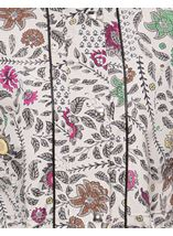 Floral Print Lightweight Coat Winter Floral - Gallery Image 4