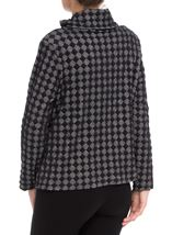 Textured Roll Collar Jacket Black - Gallery Image 3