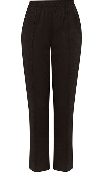 Anna Rose Straight Leg Pull On Trousers Black