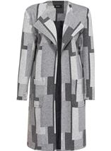 Patterned Open Lined Coat