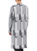 Patterned Open Lined Coat Grey Mix - Gallery Image 3