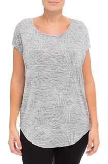 Loose Fitting Short Sleeve Shimmer Top