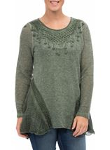 Dipped Hem Layered Knit Tunic