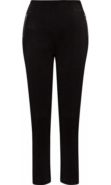 Shimmer Pull On Slim Leg Trousers Black