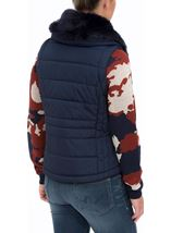 Gilet With Removable Knitted Sleeves Navy - Gallery Image 4