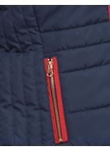 Gilet With Removable Knitted Sleeves Navy - Gallery Image 6