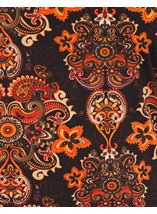 Paisley Printed Jersey Tunic Oranges - Gallery Image 3