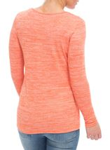 Eyelet Knit Long Sleeve Top Orange - Gallery Image 3