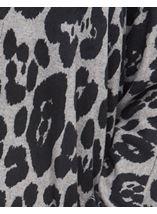 Long Sleeve Animal Print Cardigan Grey/Black - Gallery Image 4