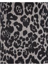 Cowl Neck Animal Print Tunic Grey/Black - Gallery Image 4