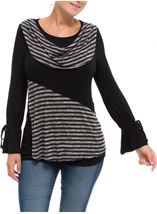 Tie Long Sleeve Jersey Top