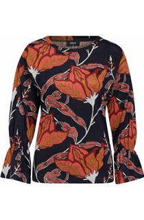 Bold Floral Print Top