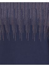 Long Sleeve Metallic Knit Top Midnight/Copper - Gallery Image 4