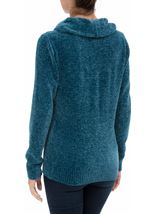 Cowl Neck Long Sleeve Chenille Top Blue - Gallery Image 3