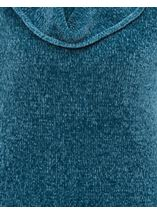 Cowl Neck Long Sleeve Chenille Top Blue - Gallery Image 4