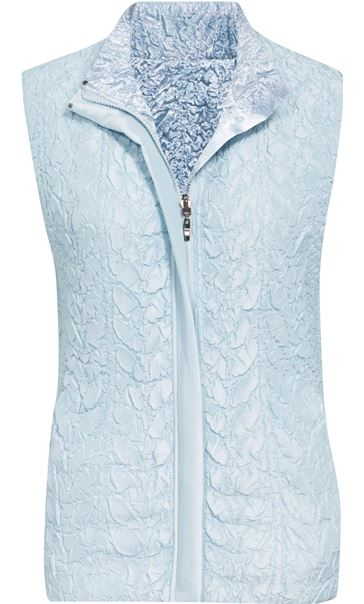 Anna Rose Textured Reversible Gilet Soft Blue