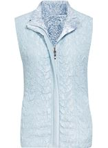 Anna Rose Textured Reversible Gilet Soft Blue - Gallery Image 1