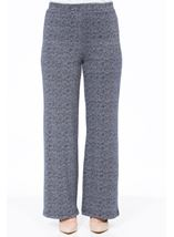 Monochrome Print Boot Cut Trousers Midnight - Gallery Image 2