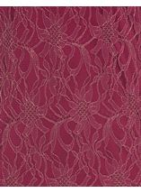 Fitted Lace Shift Dress Merlot/Gold - Gallery Image 4