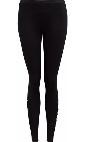 Embellished Full Length Leggings Black