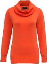 Cowl Neck Knit Top Orange - Gallery Image 3