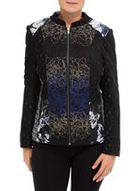 Patchwork Zip Jacket Midnight/Black - Gallery Image 2