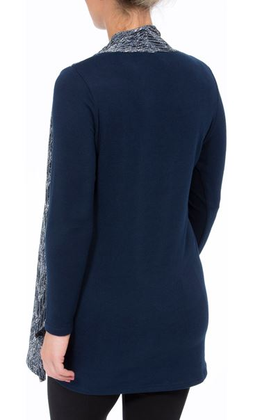 Draped Knit Long Sleeve Top Blues - Gallery Image 3