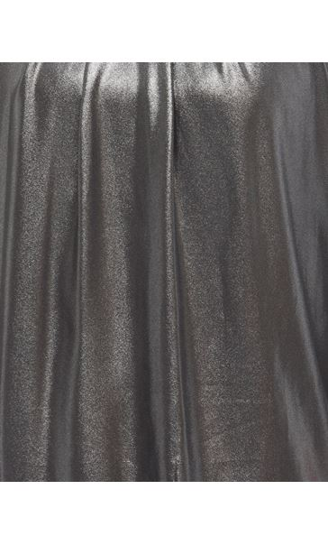 Embellished Chiffon Shimmer Top Black/Silver - Gallery Image 4