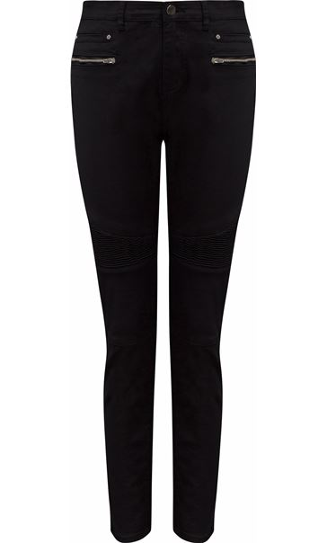 Textured Stretch Jeans Black