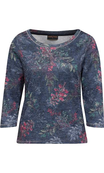 Anna Rose Botanical Print Top