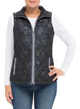 Anna Rose Floral Print Gilet Navy Floral - Gallery Image 2