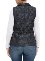 Anna Rose Floral Print Gilet Navy Floral - Gallery Image 3