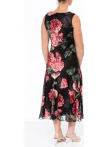 Anna Rose Bias Cut Floral Midi Dress Red - Gallery Image 3